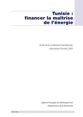 088a7fcade3c02 Tunisie   financer la maîtrise de l énergie by Agence Française de ...