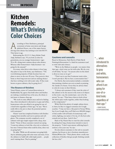 Page 15 of What's driving color choices for kitchens today