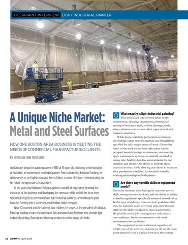 Page 32 of Light industrial painter's niche market: commercial manufacturing facilities