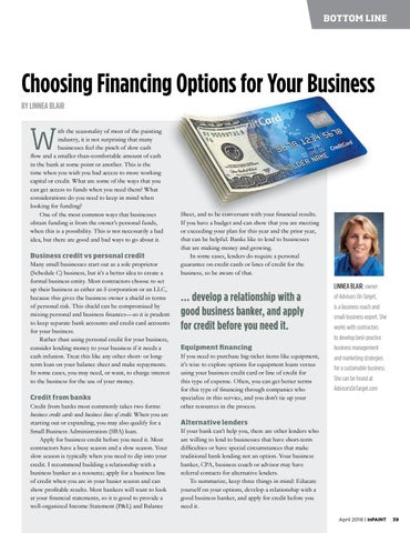 Page 39 of Choosing financial options for your business