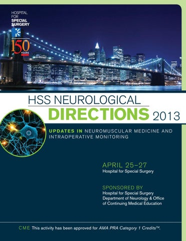 HSS Neurological Directions 2013 by Hospital for Special Surgery - issuu