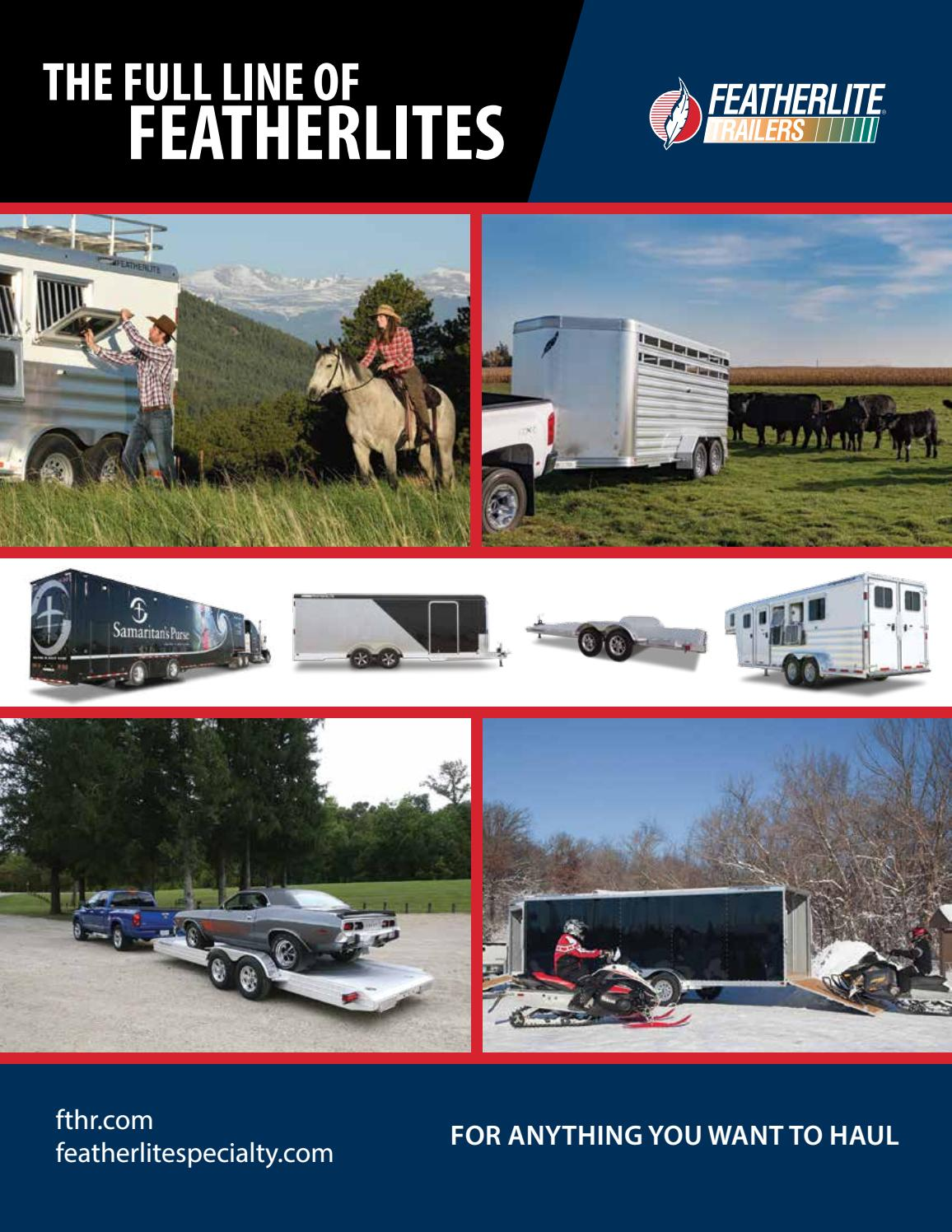 2018 Featherlite Full Line Of Trailers By Issuu Wiring Diagram For Gooseneck