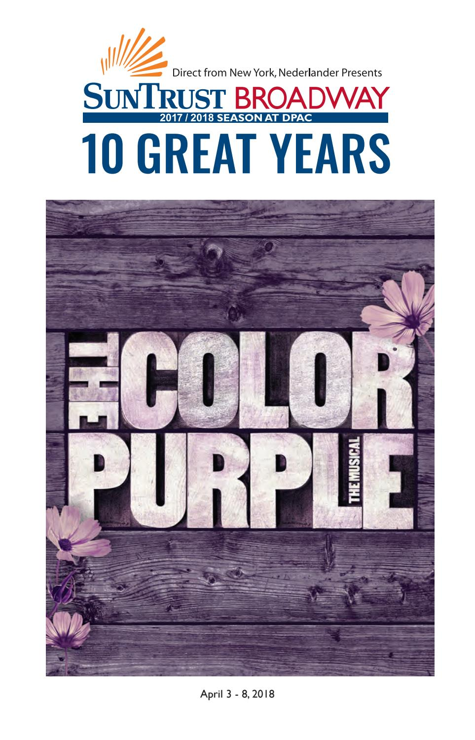 The Color Purple Playbill by DPAC - issuu