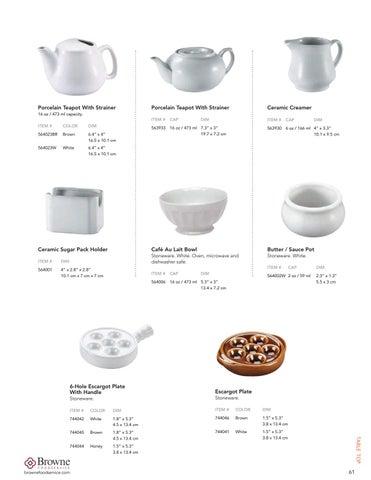Ceramic Sugar Pack Holder 564001 Browne Foodservice