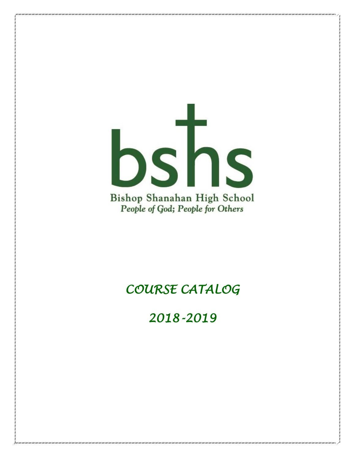 Bshs 2018 2019 Course Catalog By Bishop Shanahan Issuu Bcit Mathematics Examples Electronics Trignometry And Vectors