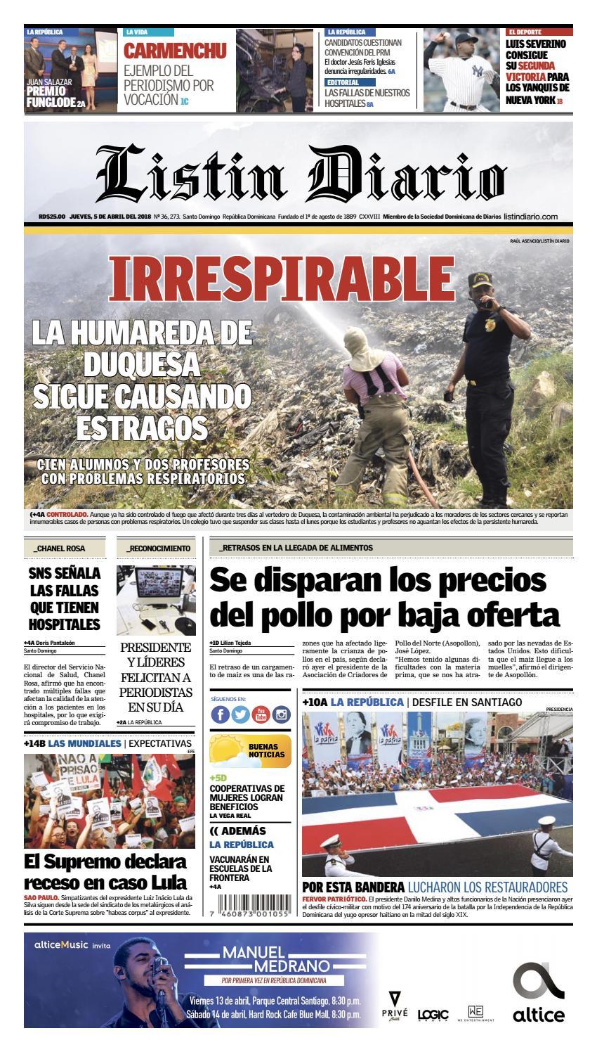 c762787e127 LD 05-04-2018 by Listín Diario - issuu