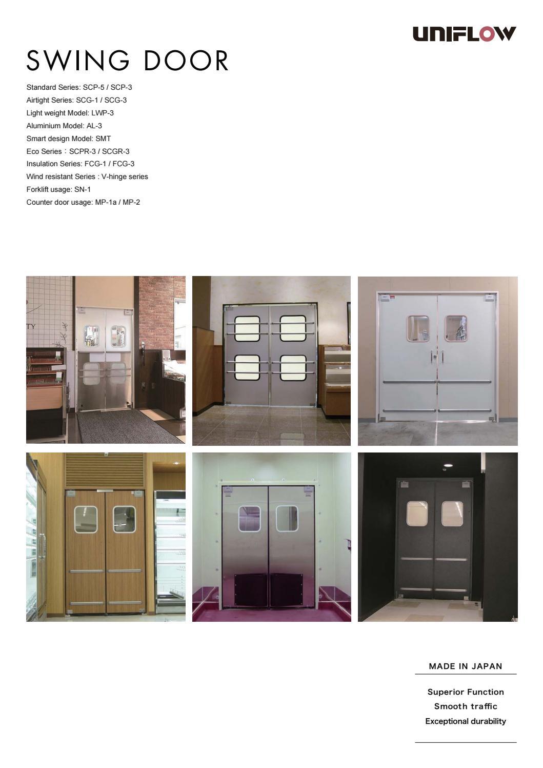 UNIFLOW SWING DOOR By Uniflow International Pte. Ltd   Issuu