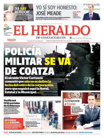 El Heraldo de Coatzacoalcos 6 de Abril de 2018 by poza acme - issuu 5e9974f8689