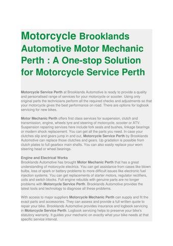 motorcycle mechanic book