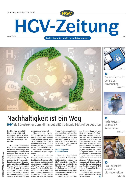 April-Ausgabe der HGV-Zeitung by HGV-Service Genossenschaft - issuu