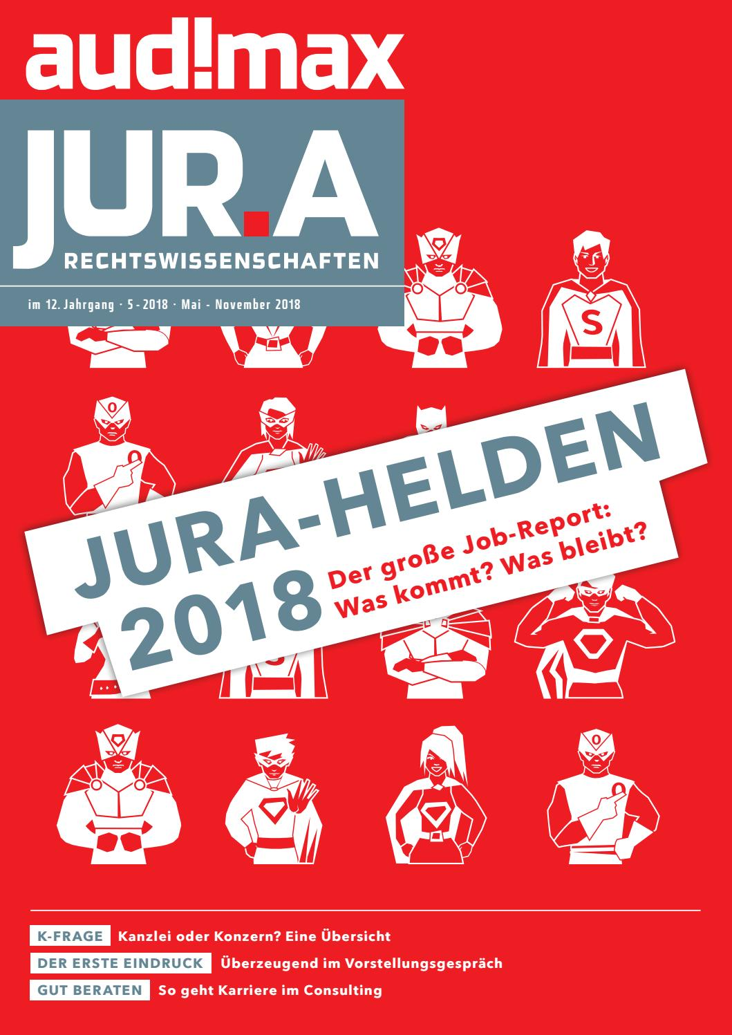 audimax JUR.A 5/2018 - Karrieremagazin für Juristen by audimax MEDIEN -  issuu