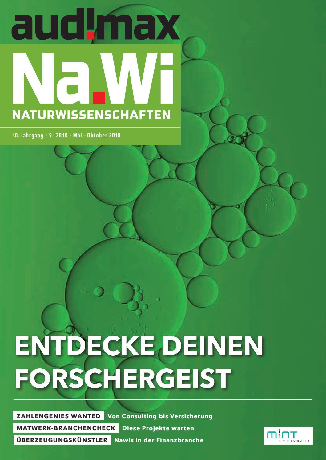 audimax NaWi 5/2018 - Karrieremagazin für Naturwissenschaftler by audimax  MEDIEN - issuu