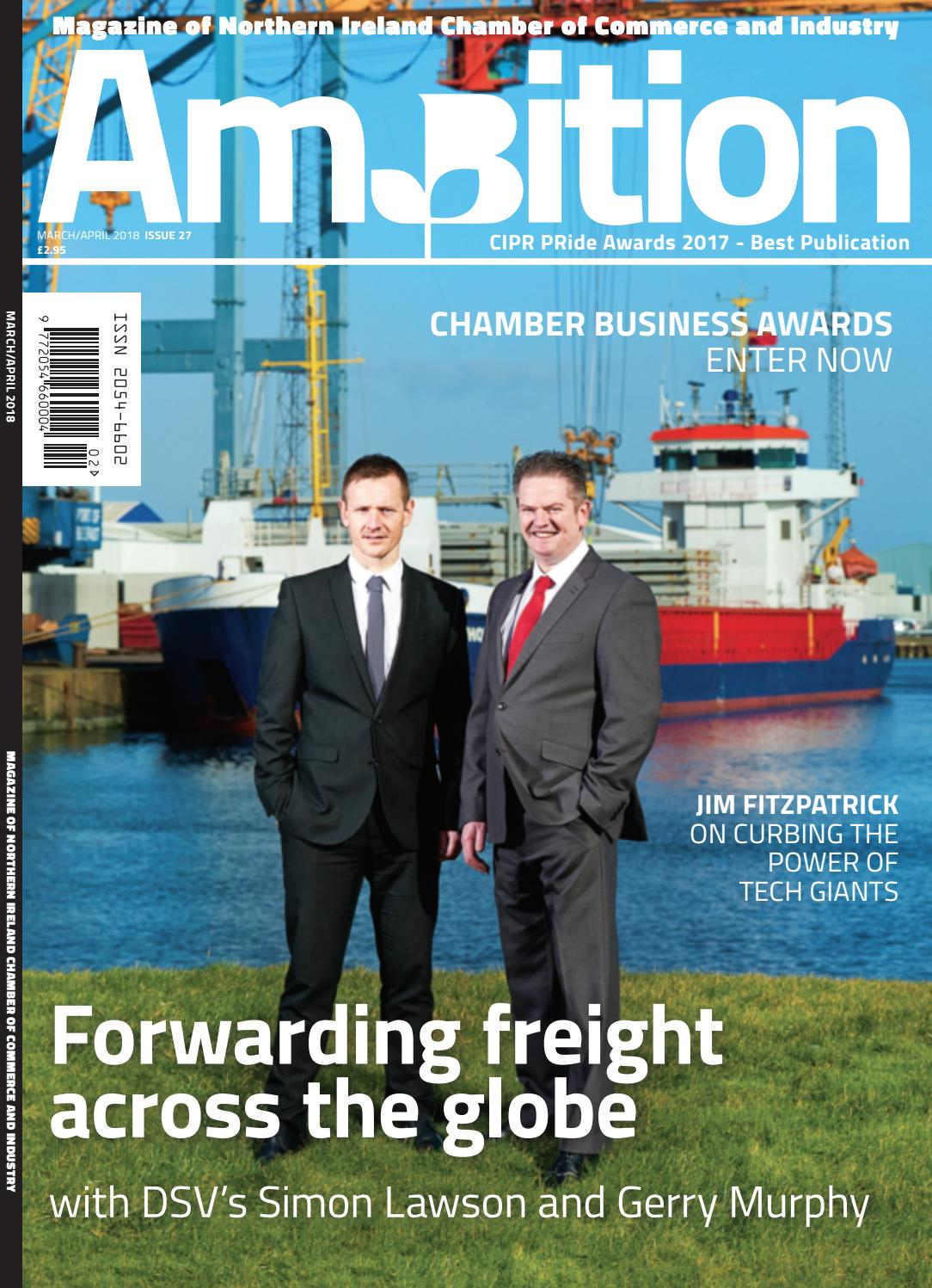Ambition Issue 27 (March /April 2018) by NI Chamber of Commerce and  Industry - issuu