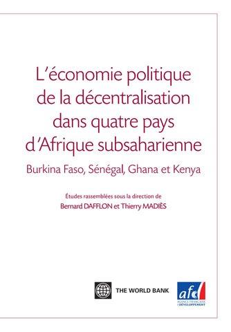 Lconomie Politique De La Dcentralisation Dans Quatre Pays D