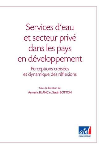 Services d eau et secteur privé dans les PED by Agence Française de  Développement - issuu 6917186c621a