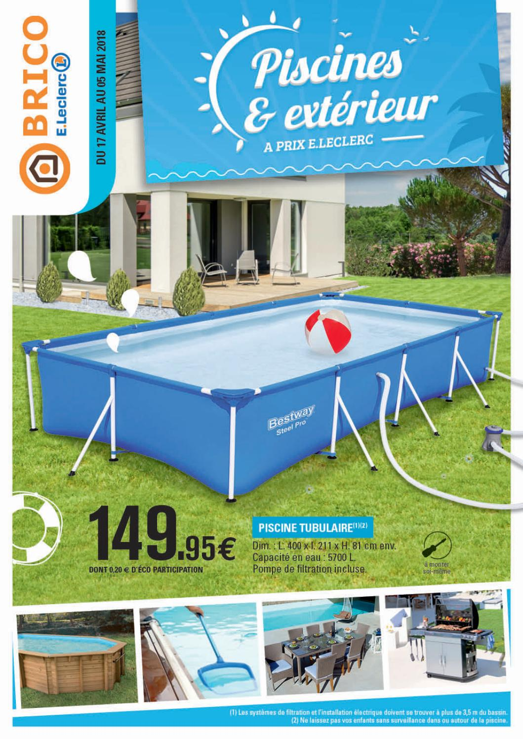 Bassin D Eau Exterieur catalogue brico e.leclerc - piscines et extérieurchou