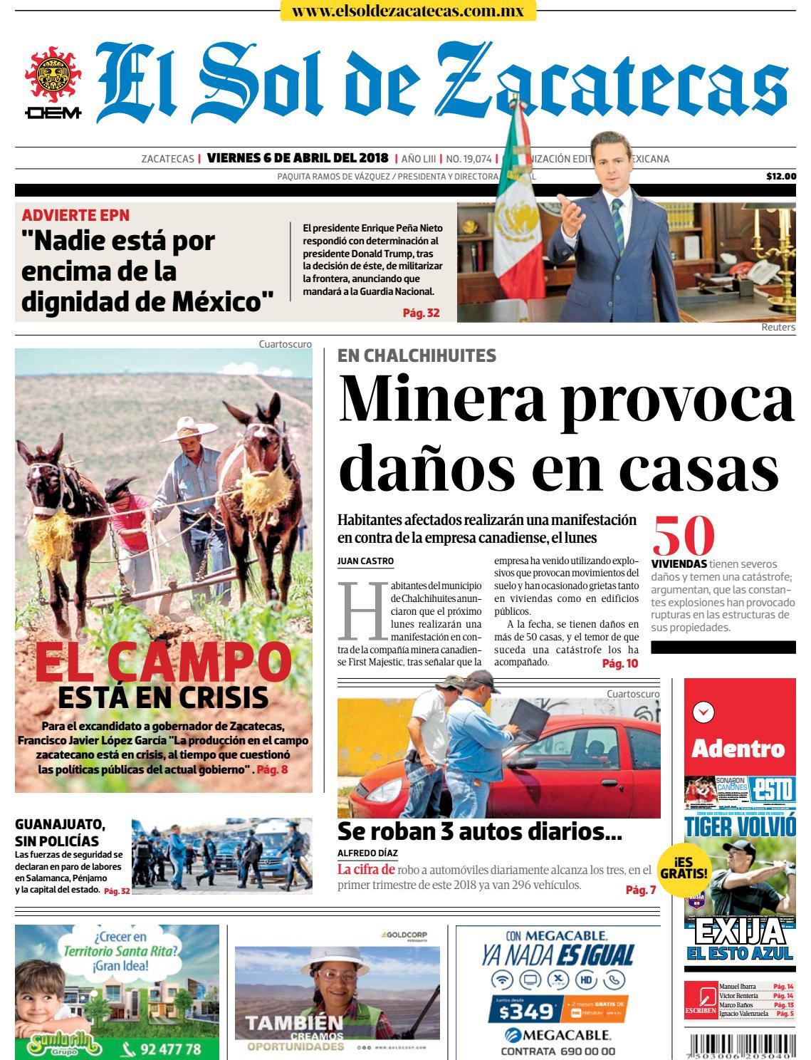 316d752aa84ba El Sol de Zacatecas 6 de abril 2018 by El Sol de Zacatecas - issuu
