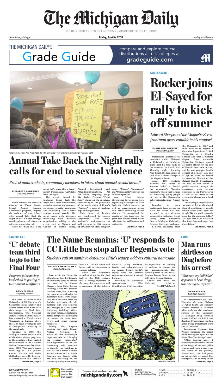 2018 04 06 By The Michigan Daily Issuu