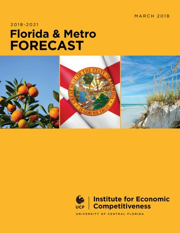Florida & Metro Economic Forecast March 2018 by UCF College