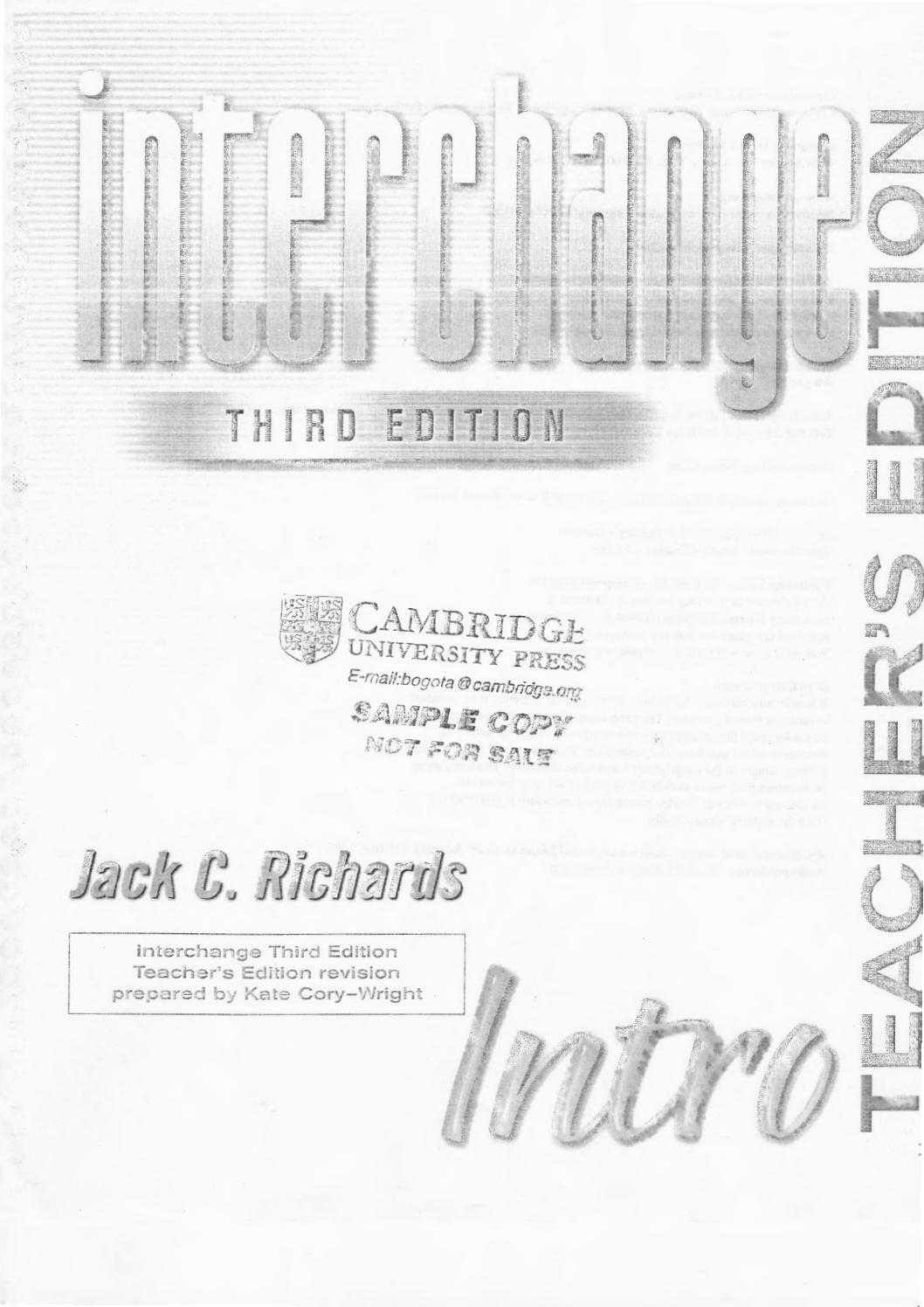 book interchange intro third edition audio student