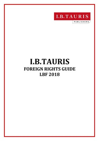 Lbf Rights Guide 2018 By Ibtauris Issuu