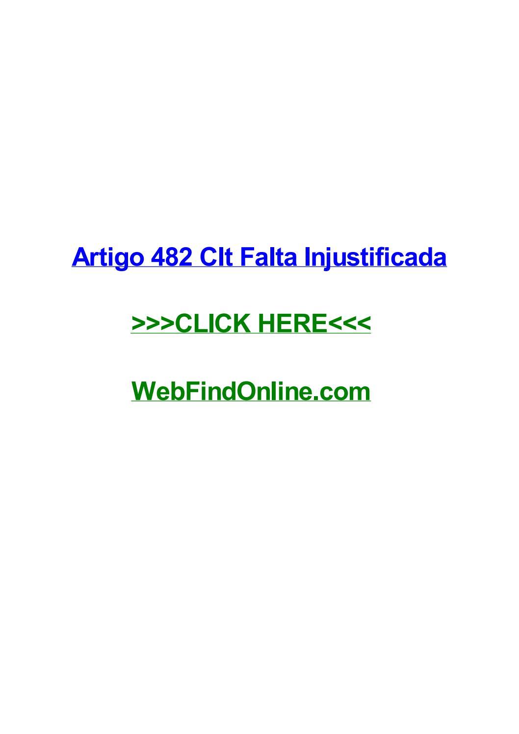 Artigo 482 Da Clt