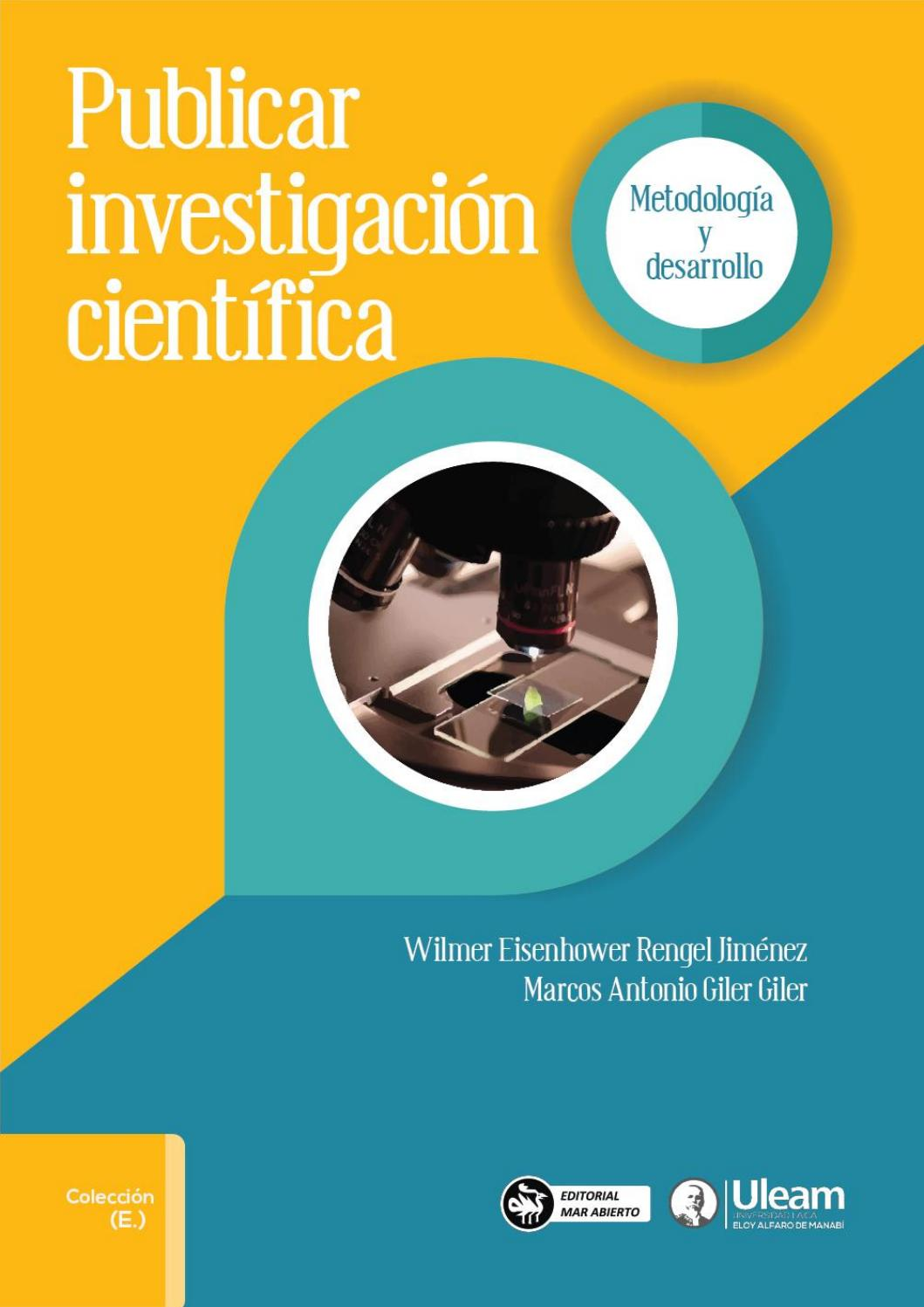 Publicar investigacion cientifica by Editorial Mar Abierto - issuu