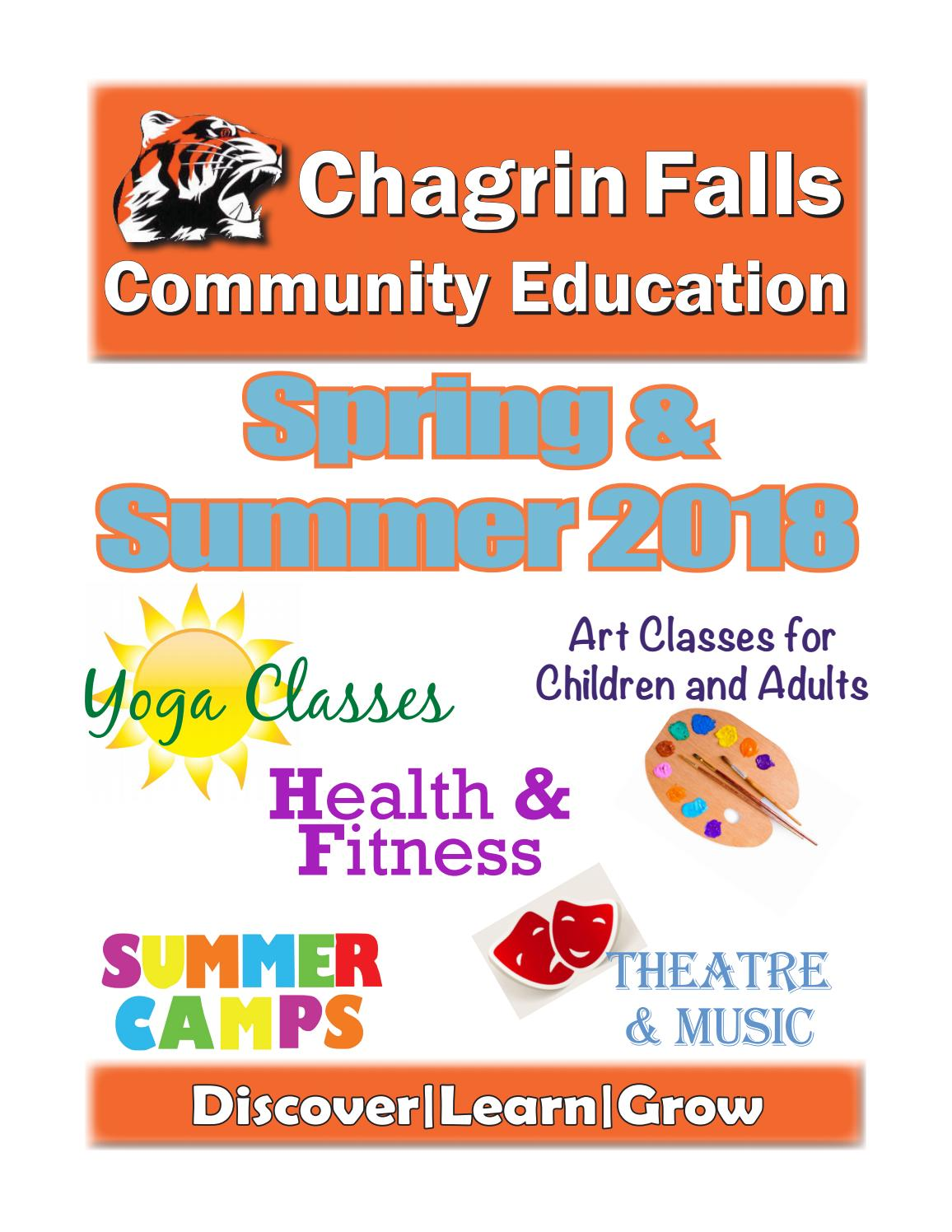Cfce Spring Summer 2018 By Chagrin Falls Community Education Issuu