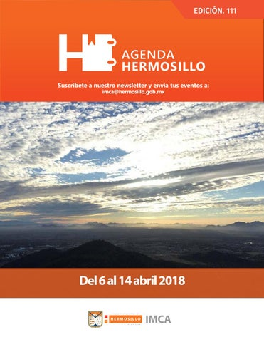 "Cover of ""Agenda Hermosillo 6 abril 2018"""