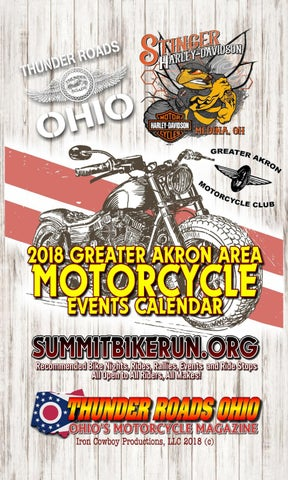 2214b5700d 2018 Greater Akron Area Motorcycle Events Calendar by Thunder Roads ...