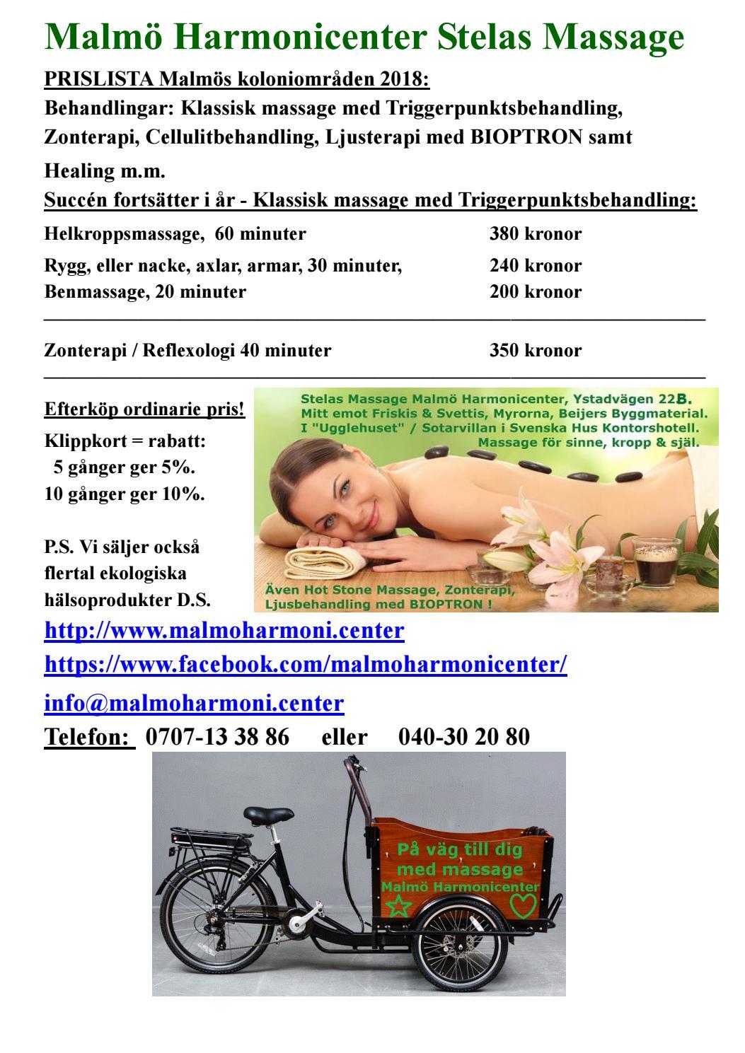 Facebook massage fett i Malmö