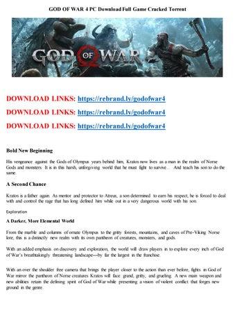 God of war ascension скачать торрент бесплатно.