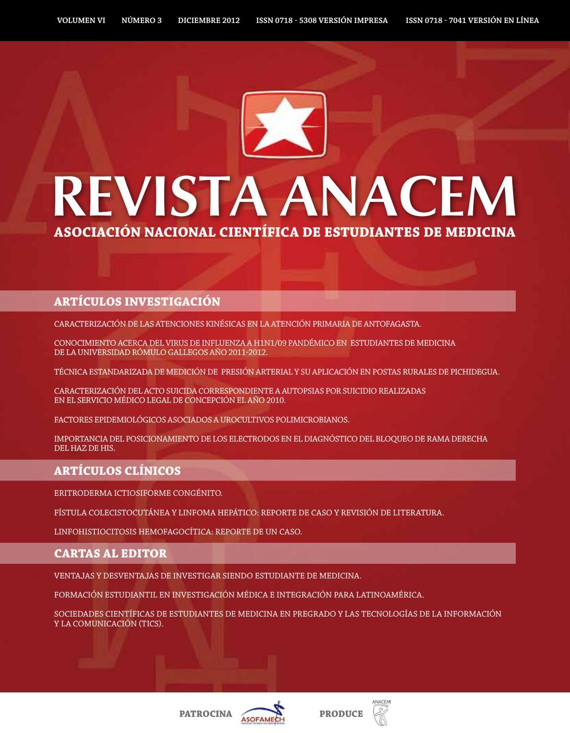 Revista ANACEM 2012;6(3) by REVISTA ANACEM - issuu