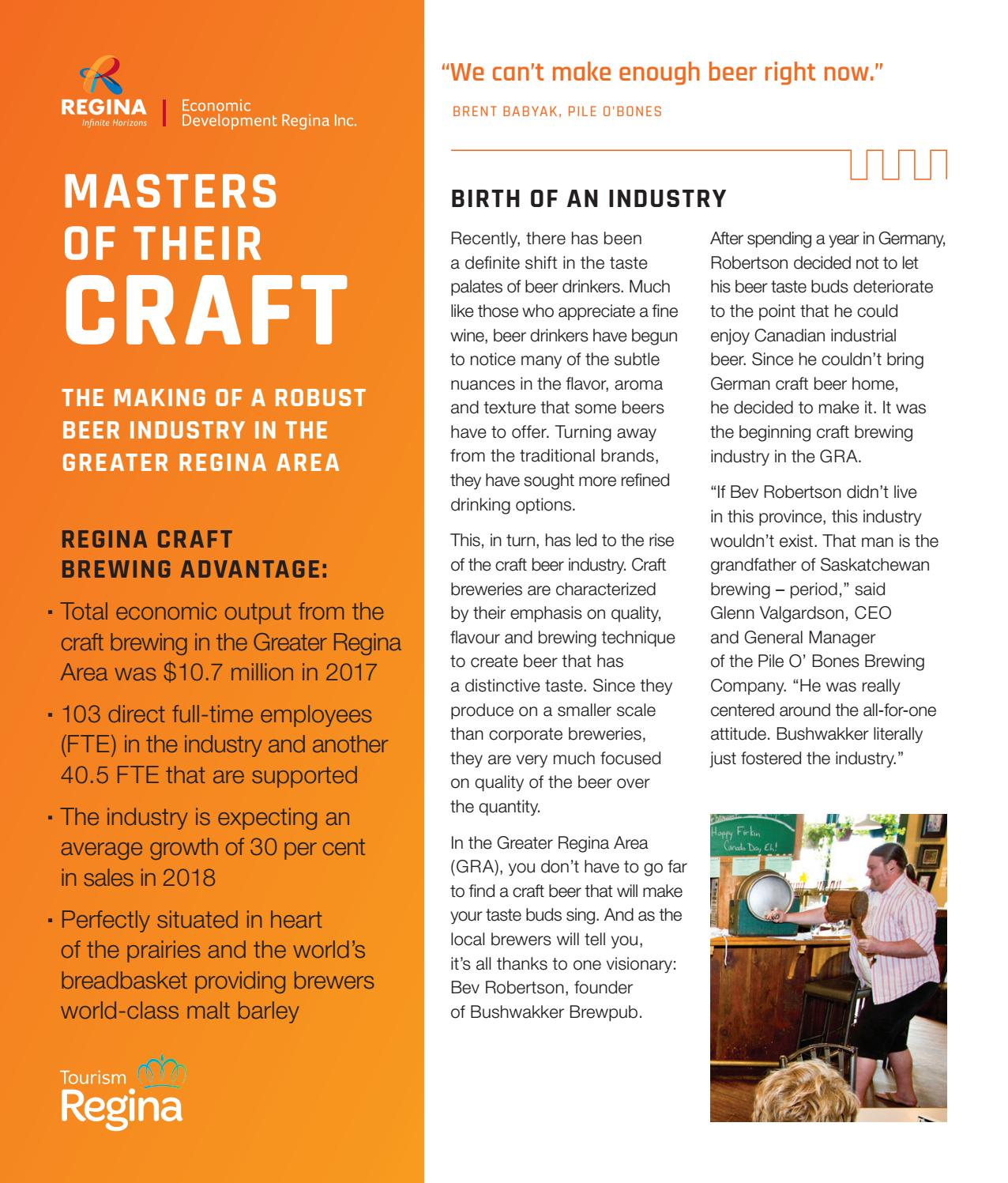 Masters of Their Craft by Economic Development Regina Inc