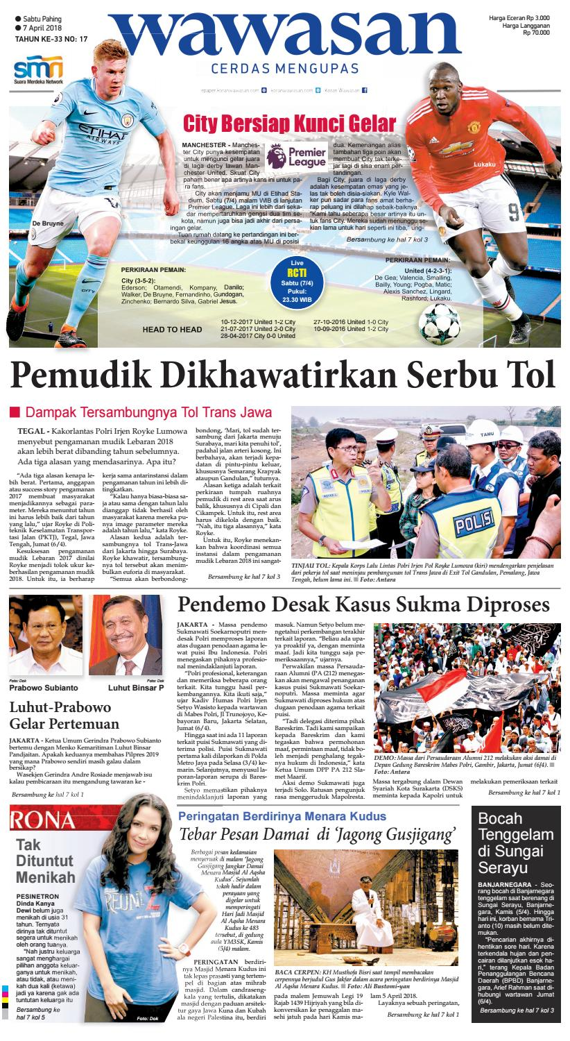 WAWASAN 07 April 2018 By KORAN PAGI WAWASAN Issuu