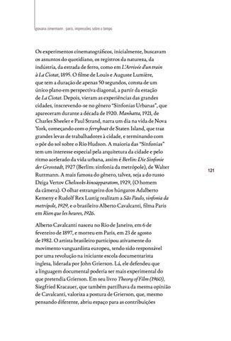 Page 121 of Paris, impressões sobre o tempo