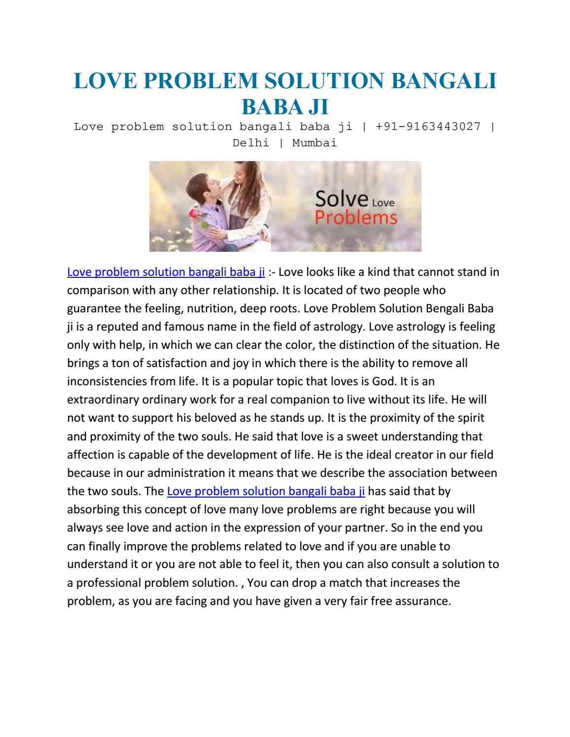 Love problem solution bangali baba ji by onlineloveproblem solution