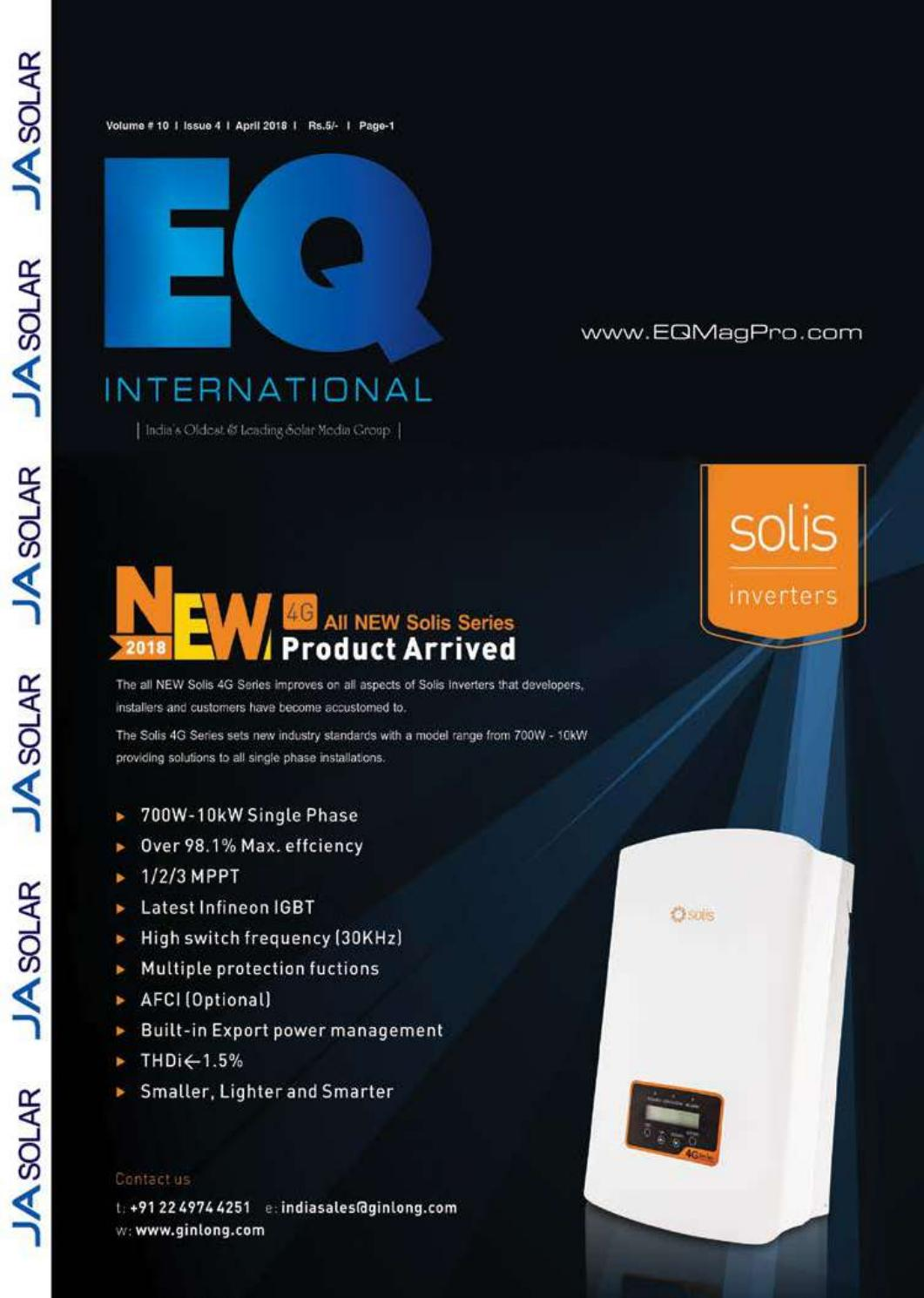 Eq Magazine April 2018 Edition By Intl Solar Media Group Issuu How To Install An Afci Outlet Plus We Make Stuff Explode Home