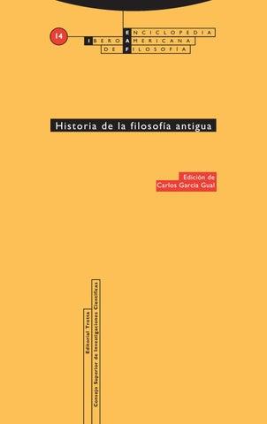 Aavv Historia De La Filosofía Antigua García Gual
