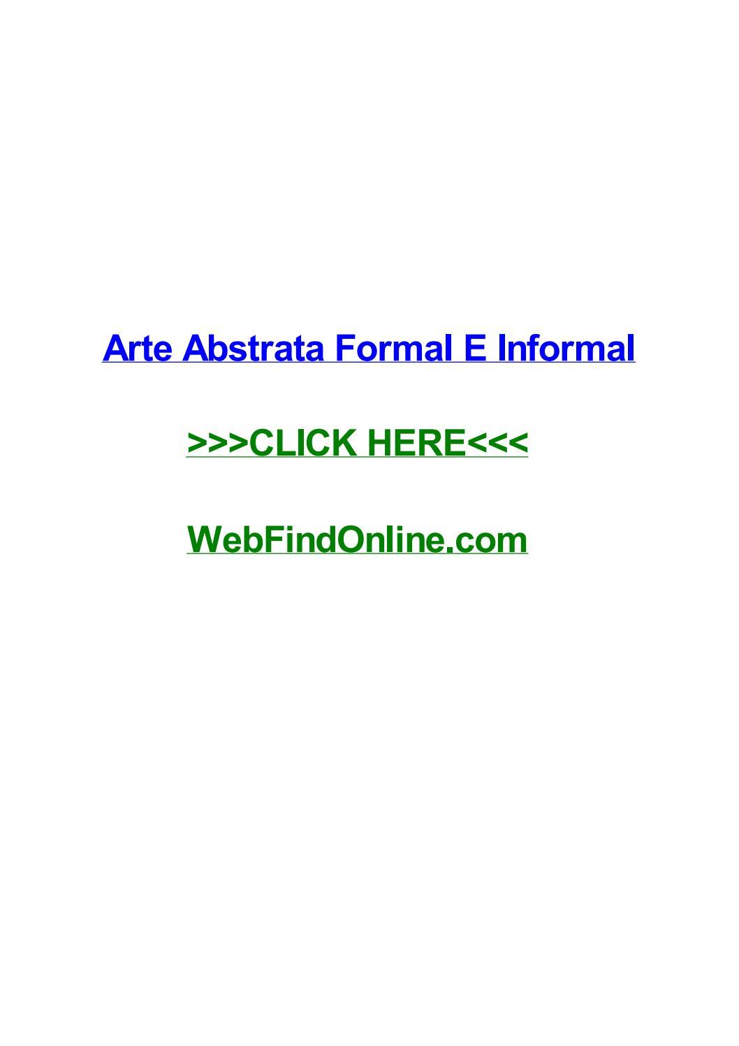 Arte abstrata formal e informal by taraioia issuu fandeluxe Images