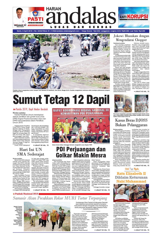 Epaper Andalas Edisi Senin 09 April 2018 By Media Issuu Cb150 Verza Cash Wheel Bold Red Kab Semarang