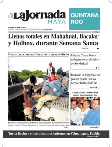 cf95e01f1 La jornada maya · lunes 9 de abril de 2018 by La Jornada Maya - issuu