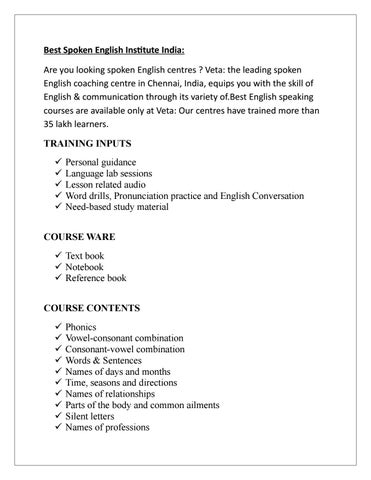 Pdf speaking veta english course