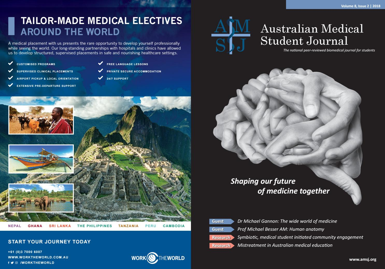 AMSJ Volume 8, Issue 2 2018 by Australian Medical Student Journal ...