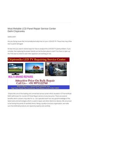 Best LCD Panel Repair Service Center Delhi Ashok Vihar Delhi by