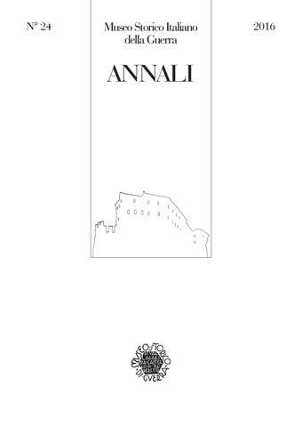 Annali 24 16 web by Museo storico italiano della Guerra - issuu 5574712e8e31