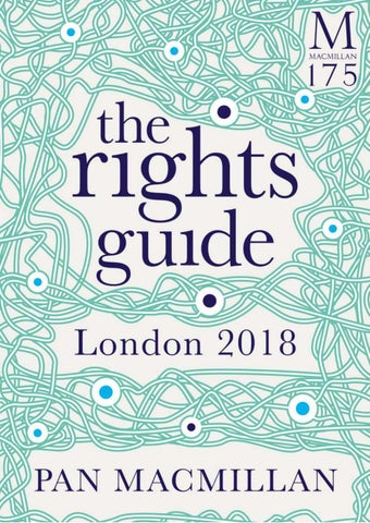 be9769d136ff Pan Macmillan Translation Rights Guide London 2018 by James Luscombe ...