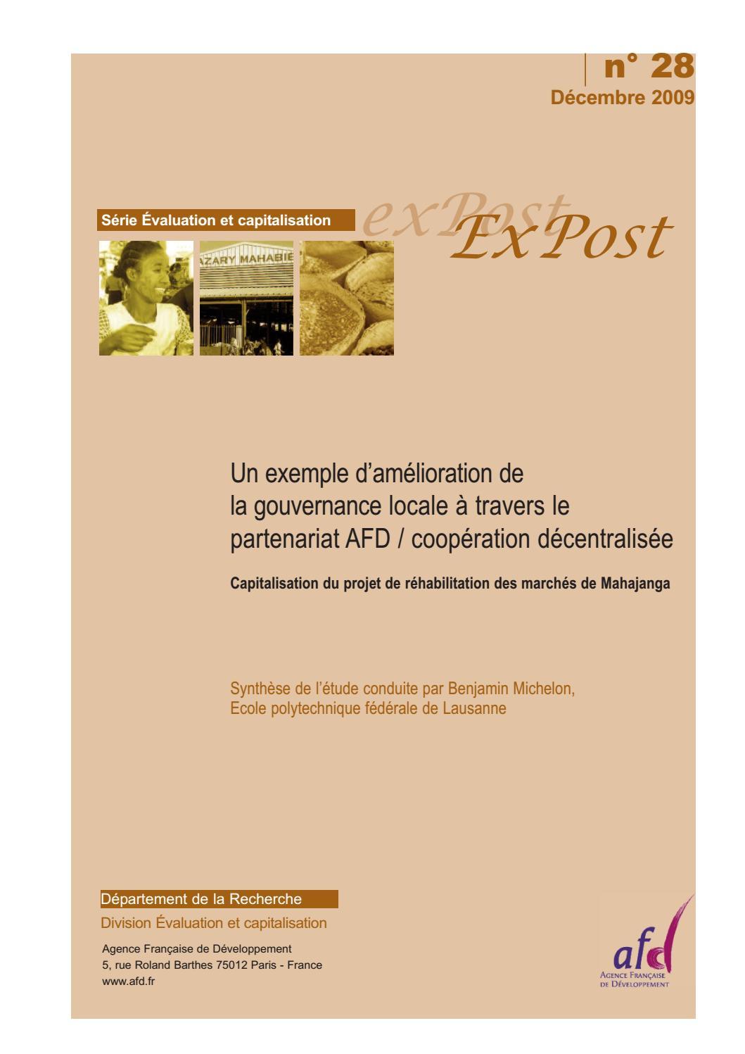 Exemple D Amelioration De La Gouvernance Locale A Travers Le