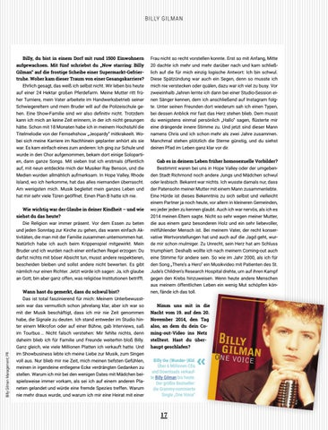 """Page 17 of EXCLUSIVE Billy Gilman: """"Ich bin bereits für alles, was kommt"""""""
