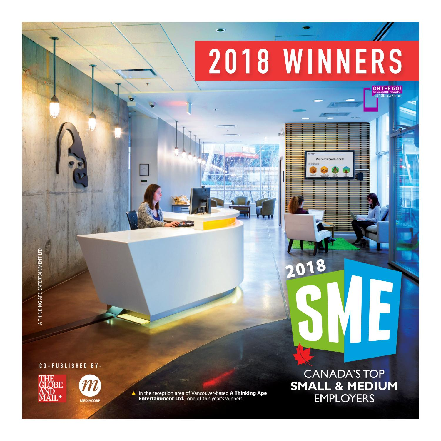 Canada s Top Small & Medium Employers 2018 by Canada s Top 100
